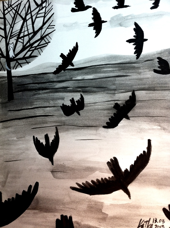 Birds Flying illustration