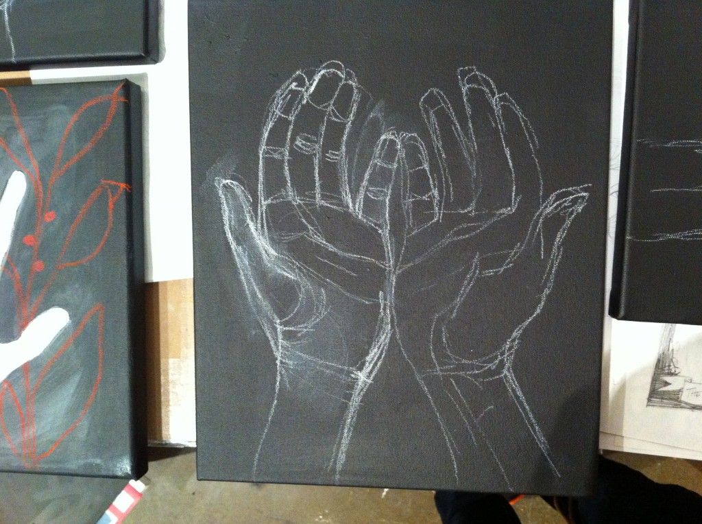 Start of my black & white series on hands.