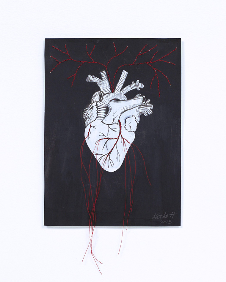 embroidered heart small